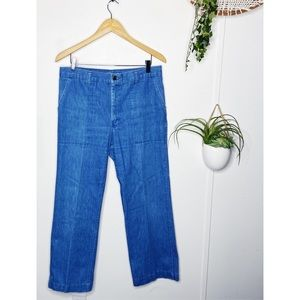 Dittos Vintage 1970s High Rise Straight Leg Jeans